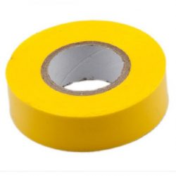 Durite  5-557-08 Tape Adhesive PVC 19mm x 5 Metre Yellow Bg1