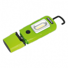 SELED3601G 360? 2W COB + 1W LED Rechargeable Green Lithium-Polymer Inspection Lamp