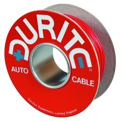 Durite 4-953-52 Cable Flat Twin Thin Wall  24/0.20mm Red/Black 500M