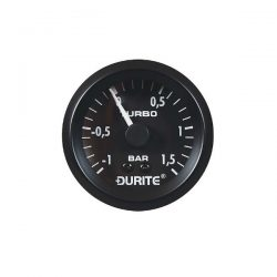 Durite 0-533-02 Vacuum/Boost Gauge 52mm Mechanical with 5′ PVC Capillary Bx1