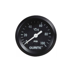 Durite 0-533-16 Oil Pressure Gauge 52mm Mechanical with 12′ Capillary Bx1