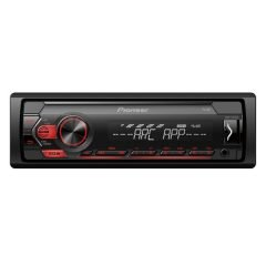 Pioneer MVH-S120UB 1-DIN Receiver With Red Illumination